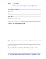 Forms – Rules Interpretation Panel Grievance