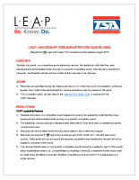 LEAP Leadership Resume and Interview Guidelines
