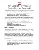TSA Achievement Program – Bronze, Silver, & Gold Awards Packet
