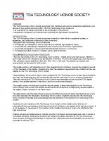 TSA Technology Honor Society