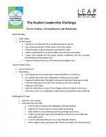 Student Leadership Challenge 5-Practices Program Overview